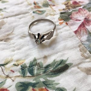 Ring with a crystal
